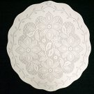 Doilies Poinsettia White On White 13 Round Set of (3) Oxford House