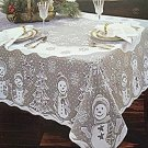 Snowman Family 52x70 White Tablecloth Heritage Lace