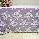 Lace Tablecloth Rose Bouquet 52x170 White Oxford House