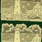 Lighthouse Placemat 14x20 Ivory Set Of 4  Heritage Lace