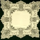 Heirloom  Table Topper 36 x 36 Ecru  Heritage Lace