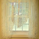 Swag Curtain Victorian Rose 60x48 Ivory One Piece Swag Heritage Lace