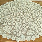 Dogwood 42 Inch Round Ecru Table Topper Heritage Lace