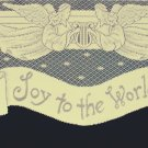 Joy To The World Mantel Scarf 20x94 Ivory Heritage Lace