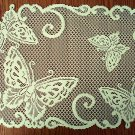 Butterflies Placemat 14x20 Ivory Set Of (2) Heritage Lace