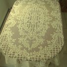 Trellis Rose Rectangle Tablecloth 60x102 Ivory Oxford House