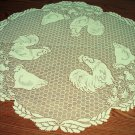 Rooster Round 30 Inch Ivory Lace Table Topper Heritage Lace