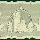 Silent Night Table Runner 14x41 Ivory Heritage Lace