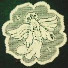Nativity Doily Ecru 8 Inch Round Set of (4) Heritage Lace