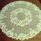 Table Toppers Cottage Rose 30 Inch Round Ivory Heritage Lace