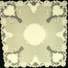 Table Toppers Vintage Rose 36x36 Ecru Table Topper Heritage Lace