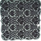 Table Toppers Heritage Damask 42x42 Black Table Topper Heritage Lace