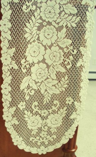 Table Runners Victorian Rose 13x72 Ecru Table Runner Heritage Lace
