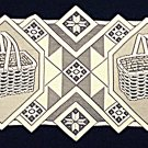Table Runner Quilt Patch/Basket Table Runner 14 x 36 Ivory Oxford House