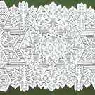 Table Runners Snowflake Metallic Silver-White Table Linens 14 x 36