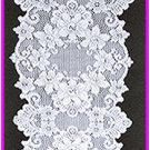 Table Runner Cleremont 14x54 White Lace Runner Heritage Lace