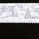 Mantle Scarf Sleigh Ride White 20x96 Mantel Scarf Heritage Lace