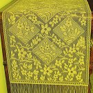 Table Runner Chantilly 14x84 Gold Table Runner Heritage Lace