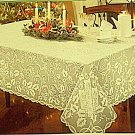 Christmas Tablecloth Holly Glow 60x108 Ivory Oxford House