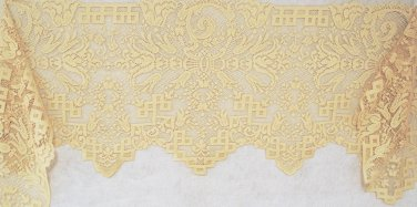 Mantel Scarf Empress 20 x 94 Antique Gold Heritage Lace