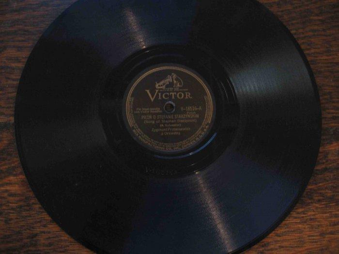 78 rpm single: Piesn o Stefanie Starzynskim (polka)