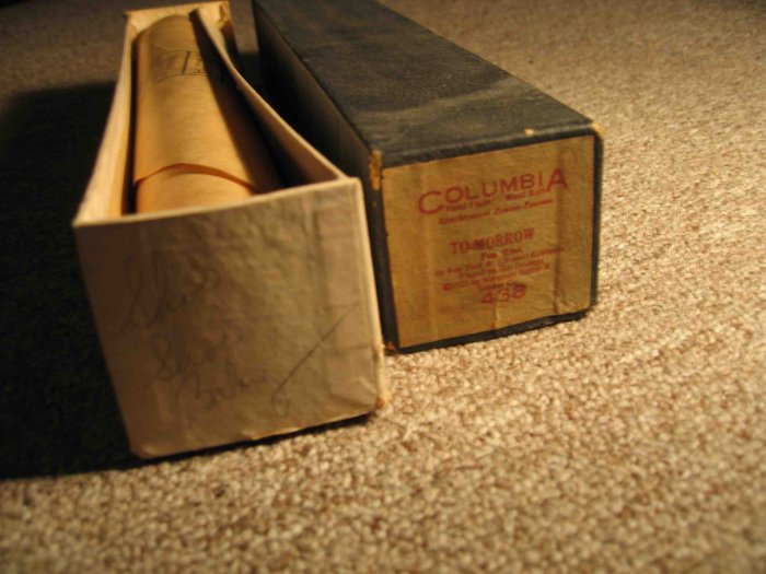 "Gus Drobegg, ""To-morrow"" piano roll from 1922"