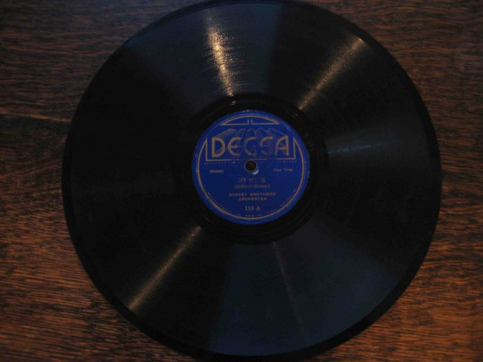 "Dorsey Brothers 78 rpm, ""By Heck"" b/w ""Basin Street Blues"""