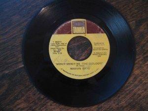 "Marvin Gaye Motown 45, ""Mercy Me (the Ecology)"" b/w ""Sad Tomorrows"" (1971)"