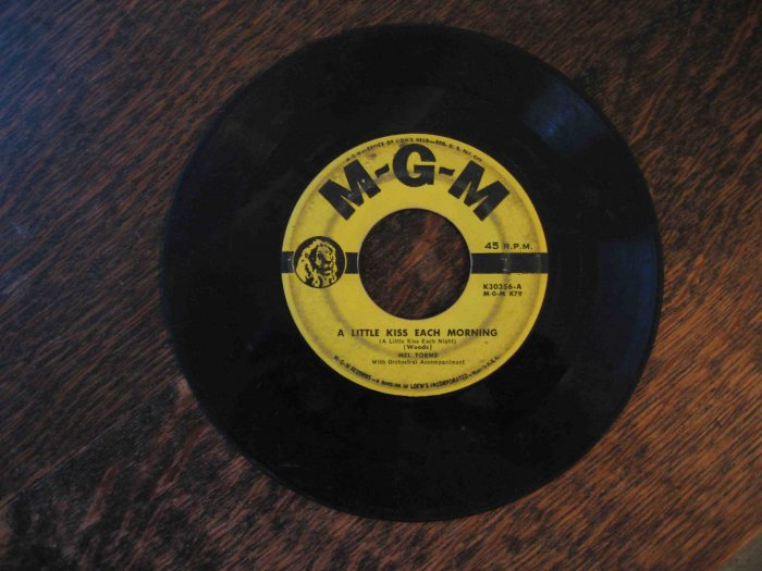 "Mel Tormé 45rpm, ""A Little Kiss Each Morning"" b/w ""Love, You Funny Thing!"""