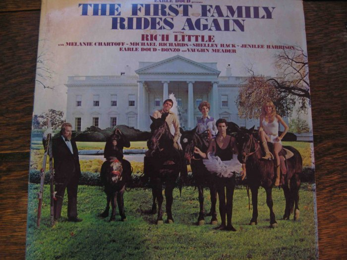 """Rich Little political comedy LP, """"The First Family Rides Again,"""" 1981"""