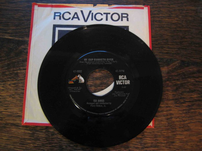 "Ed Ames 45rpm single, ""My Cup Runneth Over"" b/w ""It Seems a Long Long Time"" (1967)"
