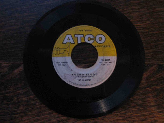 "Coasters 45rpm single, ""Young Blood"" b/w ""Searchin'"" (Atco)"