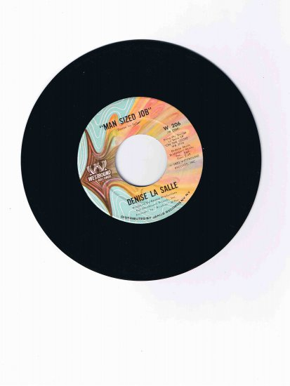 "Denise La Salle 45rpm single, ""Man Sized Job"" b/w ""I'm over You"" (1972)"