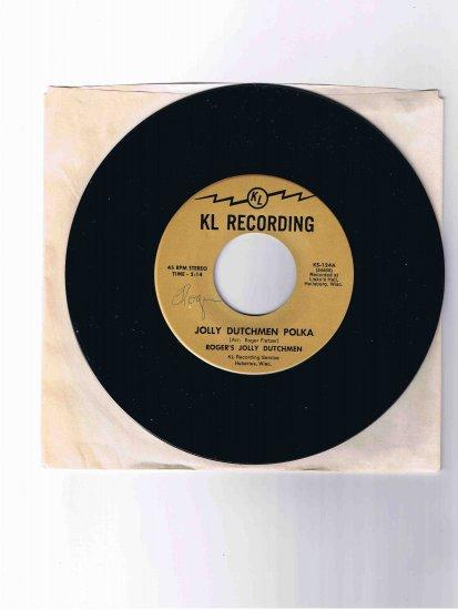 "Roger's Jolly Dutchmen 45rpm single, ""Jolly Dutchmen Polka"" b/w ""Old Timers Waltz"""