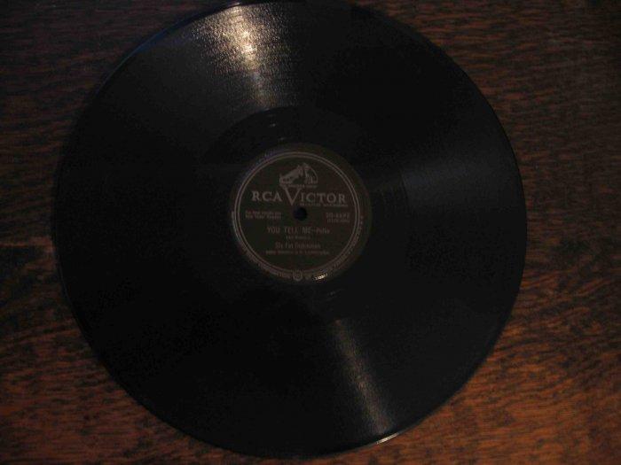 "Six Fat Dutchmen 78 rpm polka single, ""You Tell Me"" b/w ""Pingey"""
