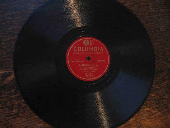 """Frankie Yankovic 78 rpm single, """"Gostilniska Polka"""" b/w """"Zivijo Slovenci"""""""