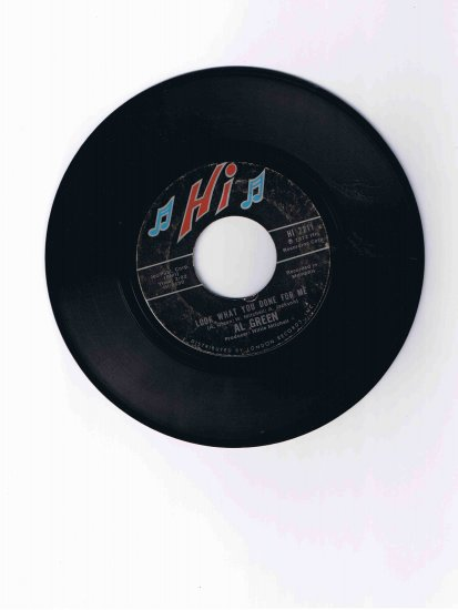 """Al Green 45rpm single, """"Look What You Done for Me"""" b/w """"La-la for You"""" (1972)"""