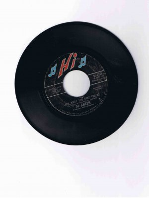 "Al Green 45rpm single, ""Look What You Done for Me"" b/w ""La-la for You"" (1972)"