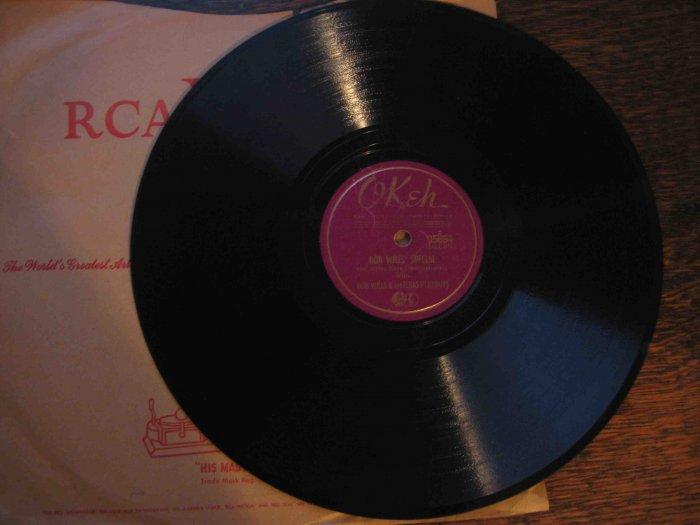 "Bob Wills western swing 78rpm single, ""Bob Wills' Special"" b/w ""New San Antonio Rose"" (Okeh)"
