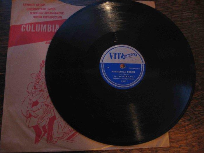 "Harmonicats 78rpm single, ""Malaguena"" b/w ""Harmonica Boogie"""