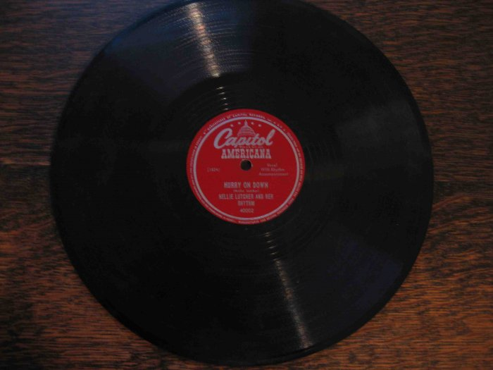 "Nellie Lutcher 78rpm record, ""Hurry On Down"" b/w ""The Lady's in Love with You"""