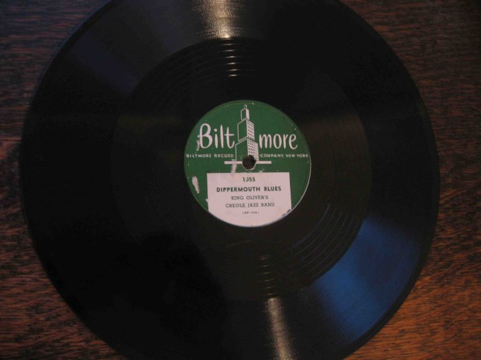 "King Oliver 78 rpm record, ""Dippermouth Blues"" b/w ""Where Did You Stay Last Night"""