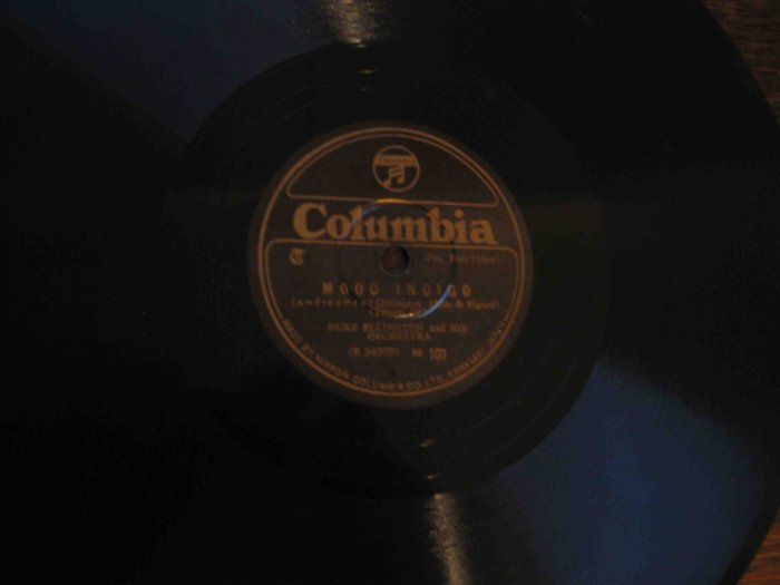 "Duke Ellington 78 rpm record, ""Mood Indigo""/""Black and Tan Fantasy"" (Japanese pressing)"