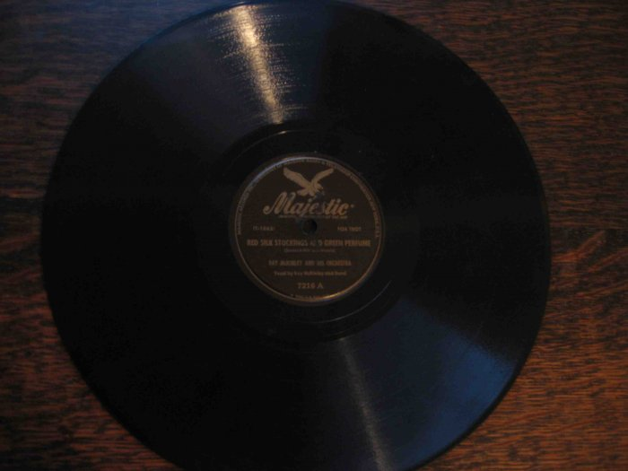 "Ray McKinley 78 rpm record, ""Red Silk Stockings and Green Perfume"" b/w ""Jiminy Crickets"""