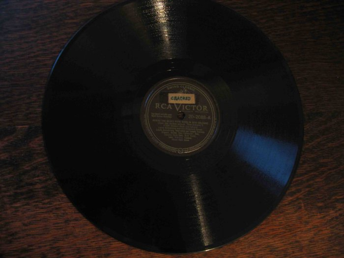 """Louis Armstrong 78 rpm record, """"Where the Blues Were Born in New Orleans""""/""""Mahogany Hall Stomp"""""""