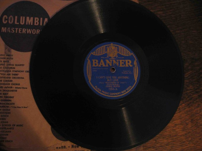 "George Beaver ""I Can't Give You Anything but Love"" b/w Howard Wilson ""Everyone Knows"" 78 rpm"