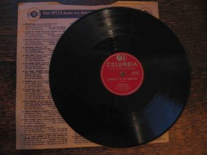 """Johnny Ray with the Four Lads 78 rpm record, """"Mountains in the Moonlight""""/""""What's the Use?"""""""
