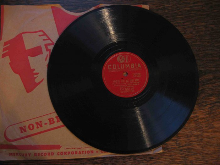 "Kay Kyser 78 rpm record, ""You've Got Me This Way"" b/w ""I've Got a One Track Mind"""