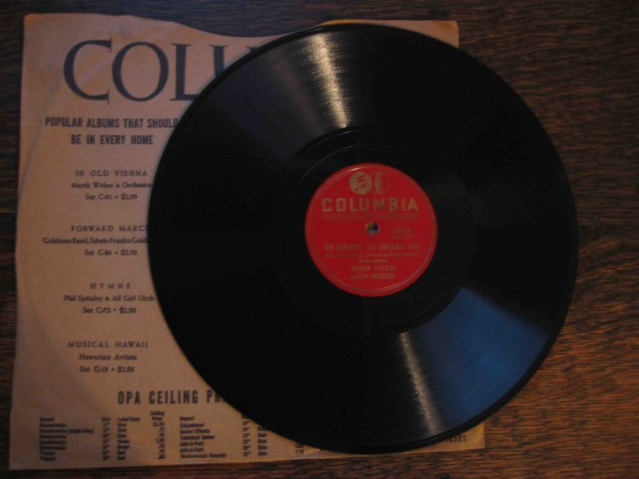 """Orrin Tucker 78 rpm record, """"Oh Johnny, Oh Johnny, Oh!"""" b/w """"How Many Times"""""""