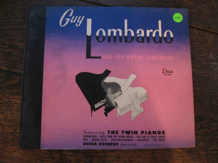 Guy Lombardo and His Royal Canadians with Twin Pianos 78 rpm album (1946)
